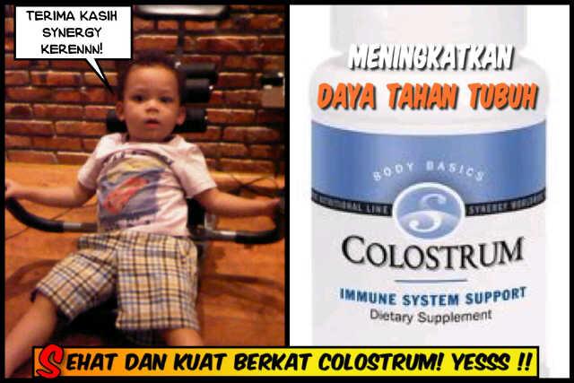 Anak ku Milan Sehat berkat Colostrum Synergy