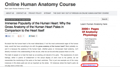 Learn Online Human Anatomy Course