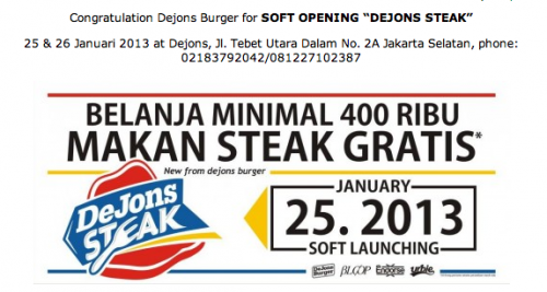 Dejons Steak Opening Now - Discount