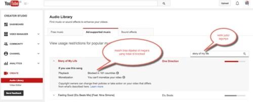 cara cek lagu youtube copyright atau tidak