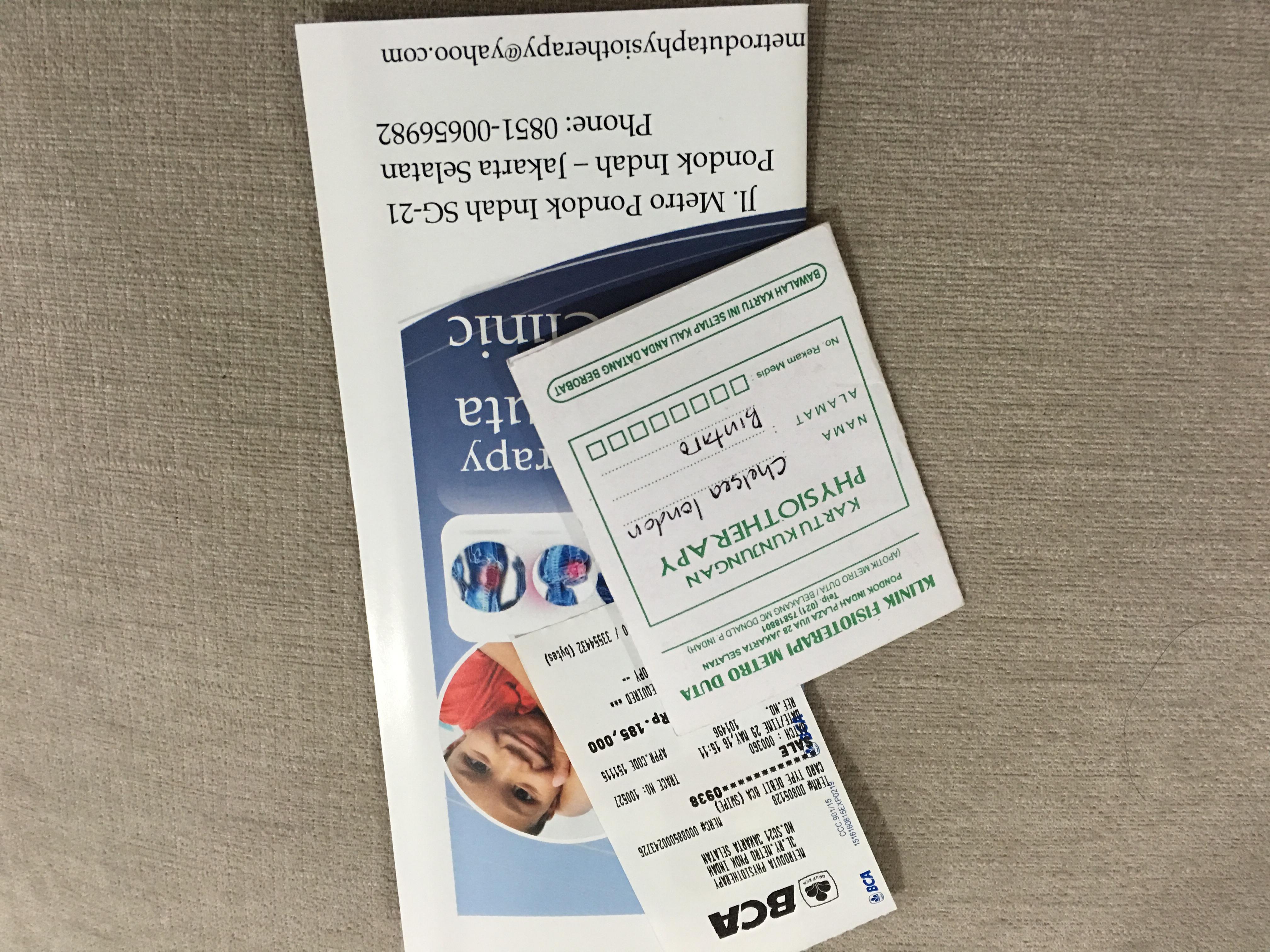 harga 1x fisioterapi uap metro duta untuk balita Rp 185